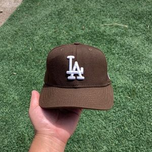 LA Dodgers brown new era 59fifty fitted cap
